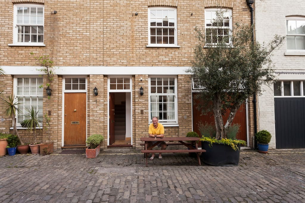 Your Host: in front of house. Only 300 metres from Hyde Park