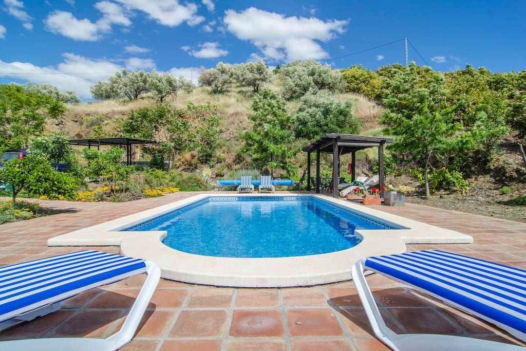 Large pool (4 x 9m) set in a beautiful and totally private garden.