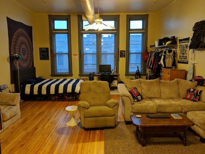 Huge Studio Downtown Oshkosh