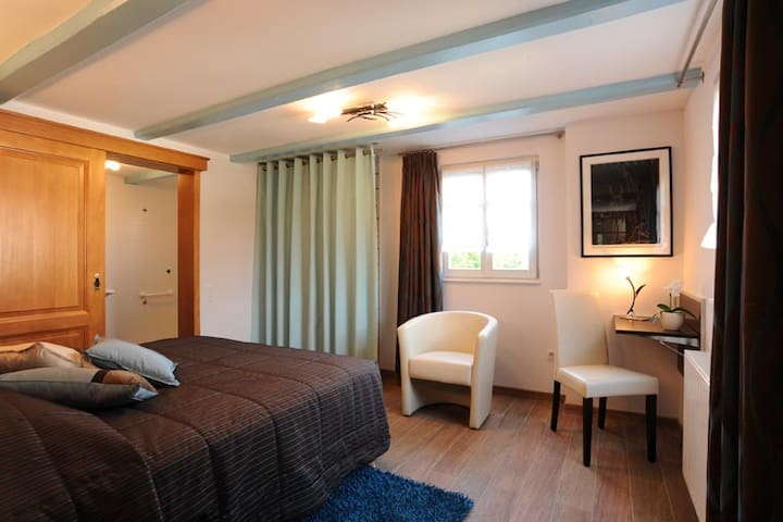 Lovely calm typical guesthouse room - Oberschaeffolsheim - Pensió