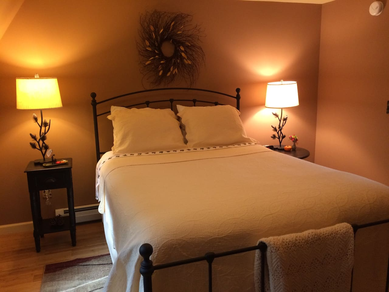 The Pinecone room has a comfy queen bed!