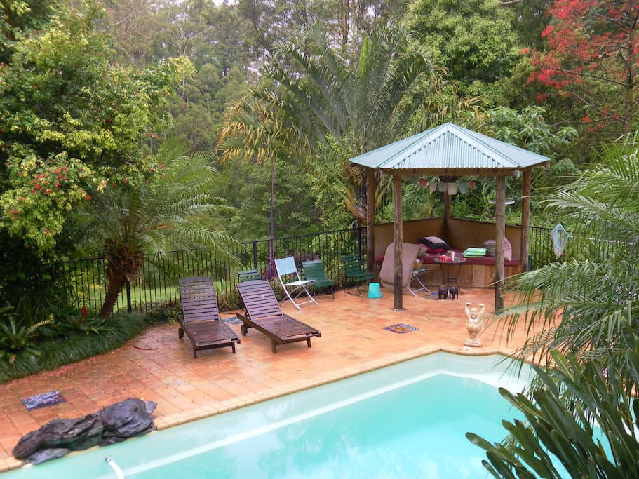 Relax by the pool or our Verandah Deck overlooking the pool & beautiful gardens