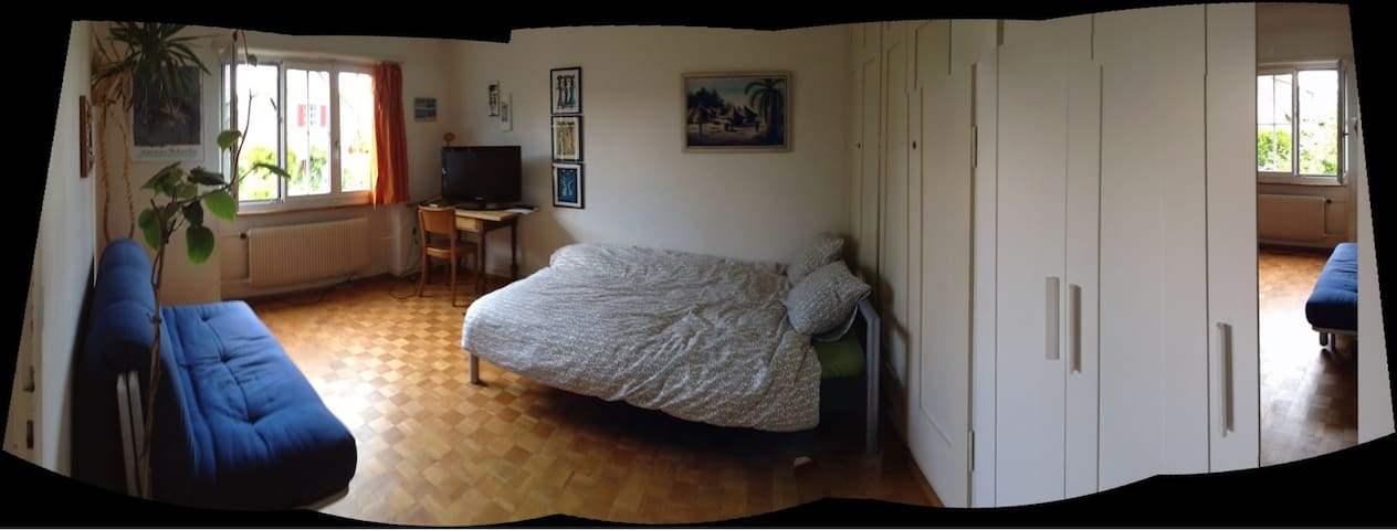 Room in big cosy apartment for 1-3p - Berne - Apartemen