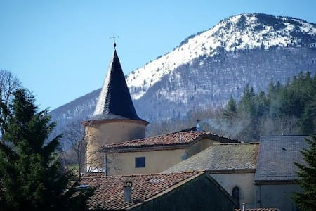 Old renovated barn in cathar Pyrenees