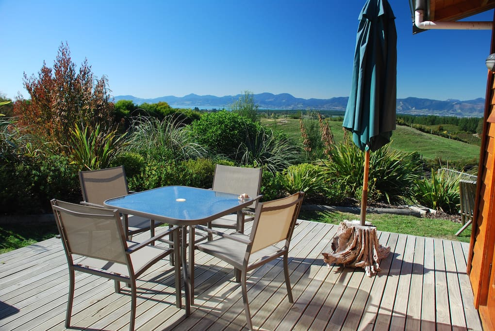 Relax on the deck, enjoy the sun and views