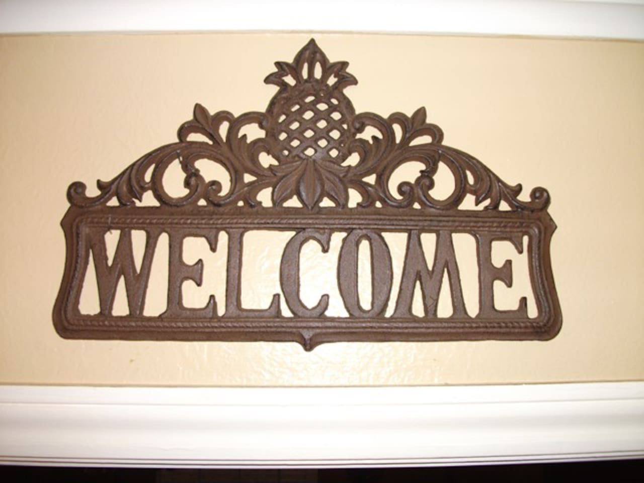 Welcome Sign In Kitchen