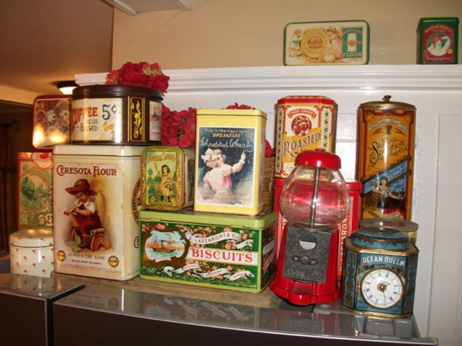 Collection Of Tins In Kitchen