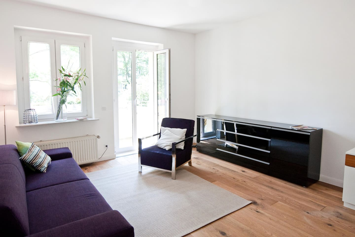 Modern designed living room with TV just added for you