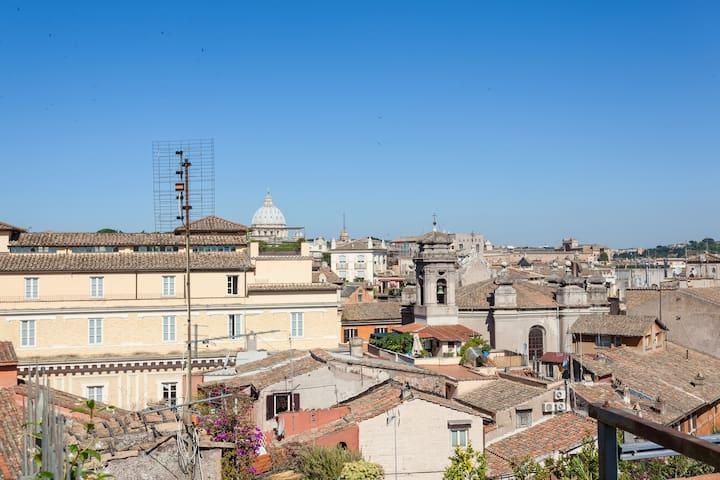 Terrazza privata con vista su San Pietro