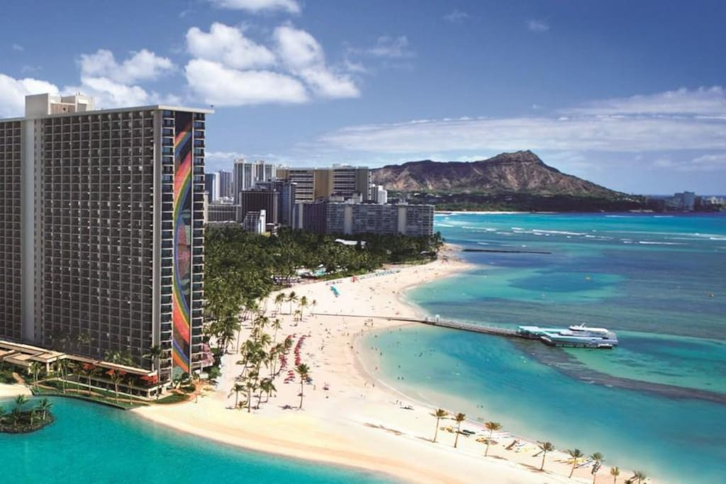 Ocean Front Waikiki Corner 2 X View Apartments For Rent