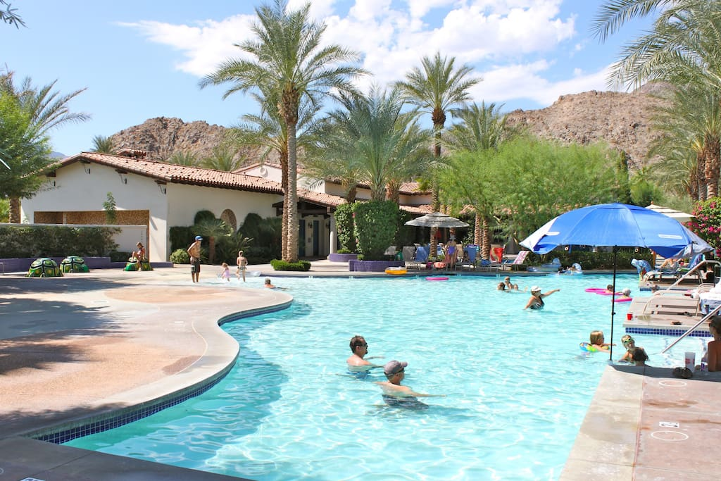 Large Family pool with zero scape entry is a kid favorite