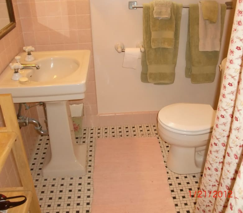 Full bath with soaking tub and shower...