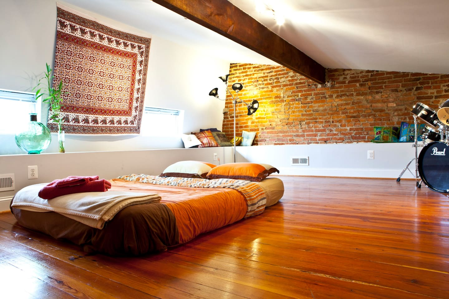 While not pictured, the loft now features a brand new full size bed. Relax in luxury with bamboo sheets and towels.
