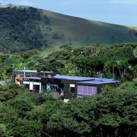 Beach house with Ocean views. - Bethells Beach - Huis