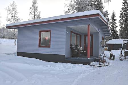 Cottage by lake Kangosjärvi, Lapland  Muonio