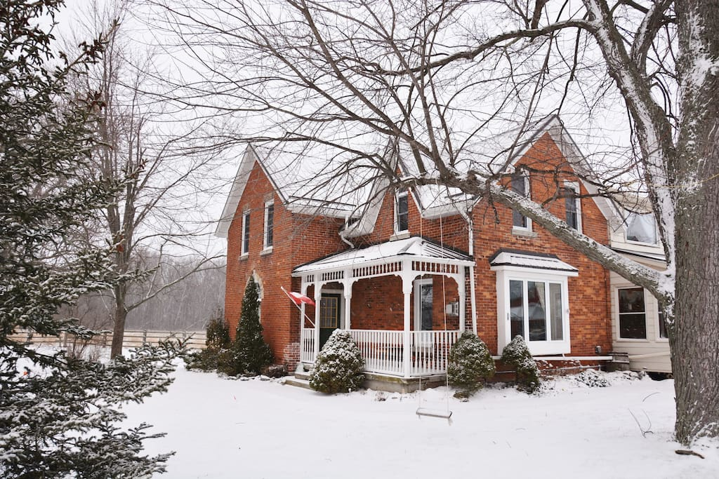 The property is a cozy and magical getaway during the winter months