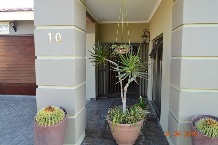 Front entrance to house