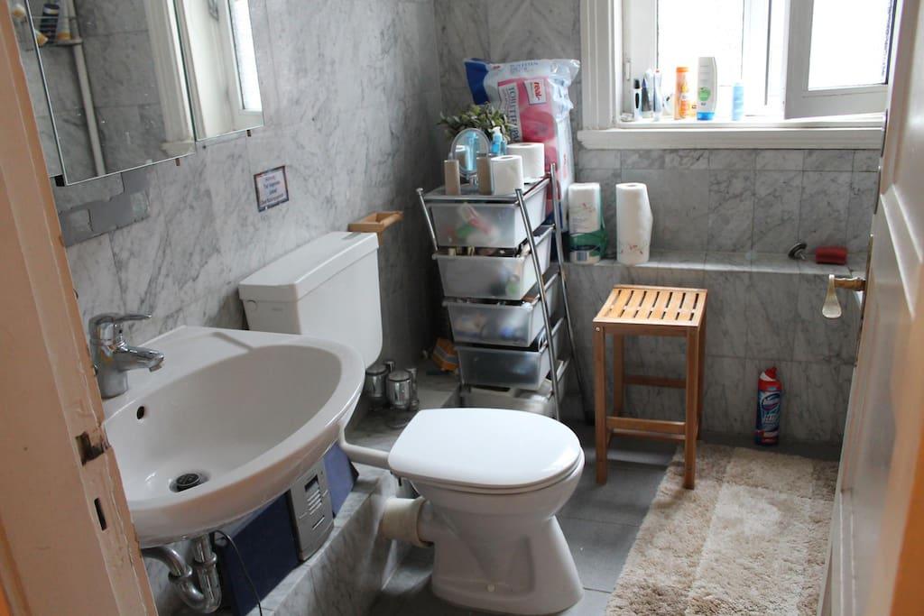 Beautiful Bathroom with sunlight and a bathtub