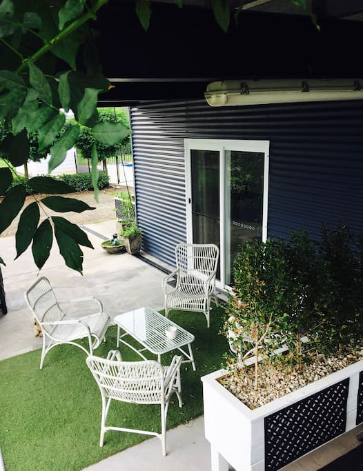 Your own outdoor area with BBQ