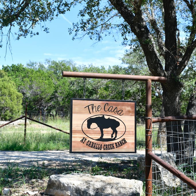 A private gate to your 2 acre fenced getaway.