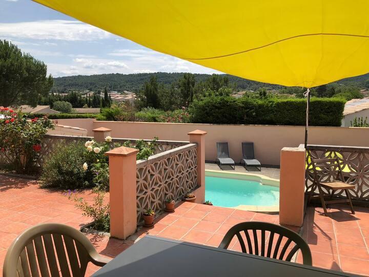 Maison piscine Cité Carcassonne Sud France