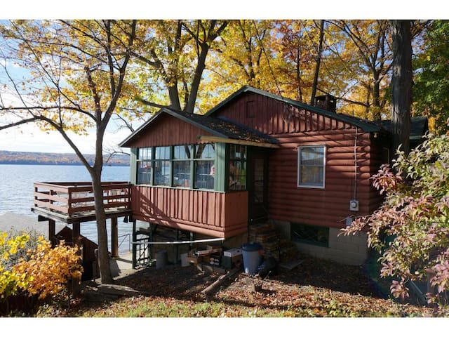 Cozy Cayuga Lake Cabin (east) with level 90' beach