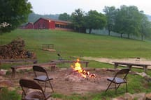 firepit down by the lake