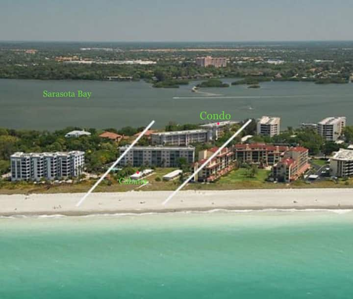 Bay to Beach Condo- Beautiful View of Sarasota Bay