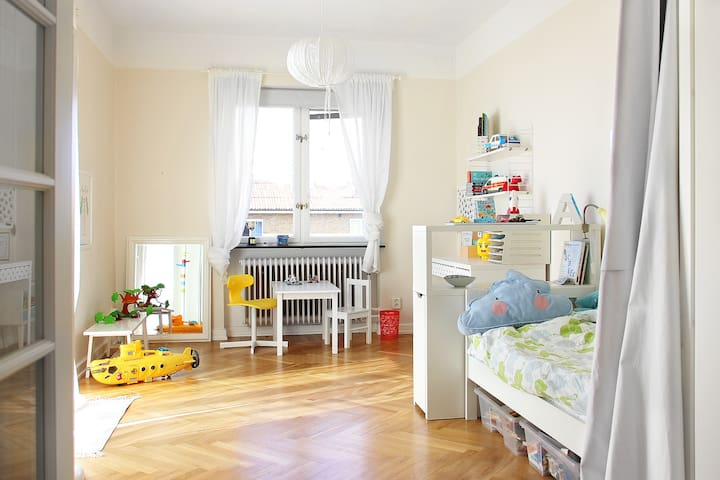 Bedroom with childbed 70*160 cm
