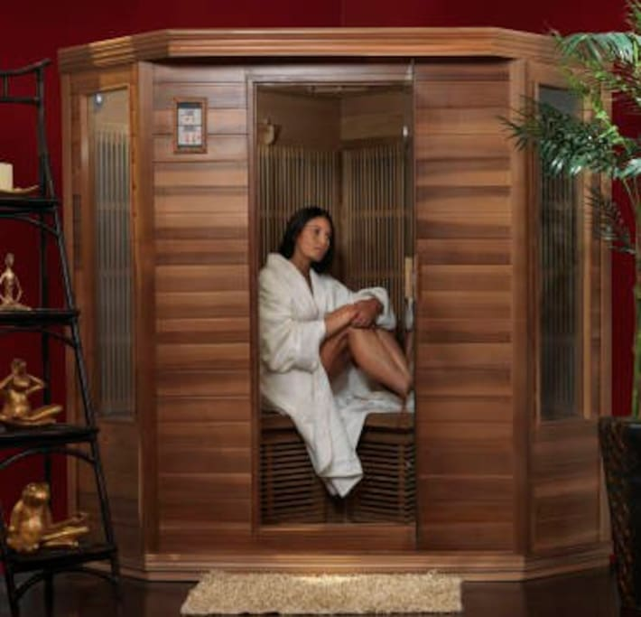 Start or finish your day in our Infra Red Sauna