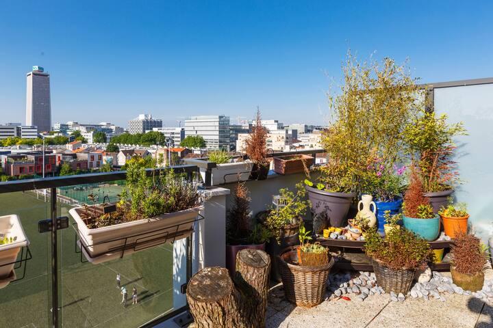 Big Appartment 130 m²+terrasse 40m² - Saint-Ouen - Appartement