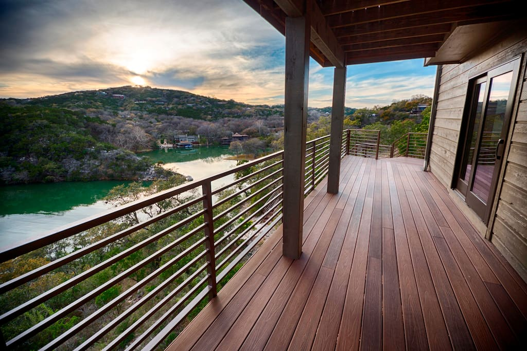 Steps to boat dock on Lake Austin - 2 story dock w/grill, refrigerator, stereo and rafts for swimming.