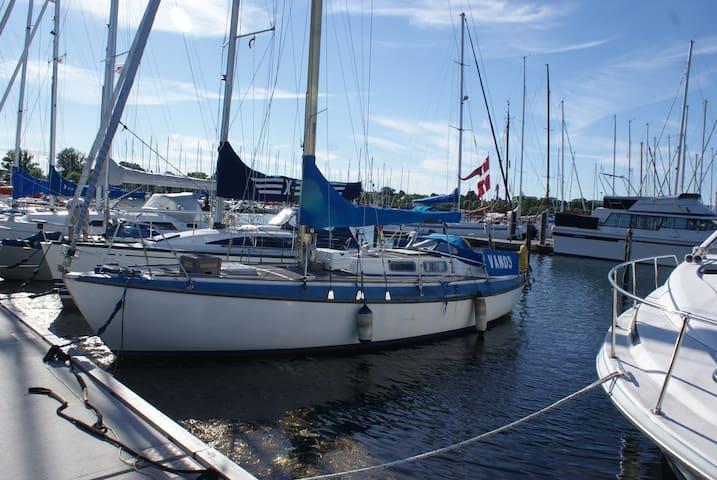 Charmerende sejlbåd i skøn havn - Copenaghen - Barca