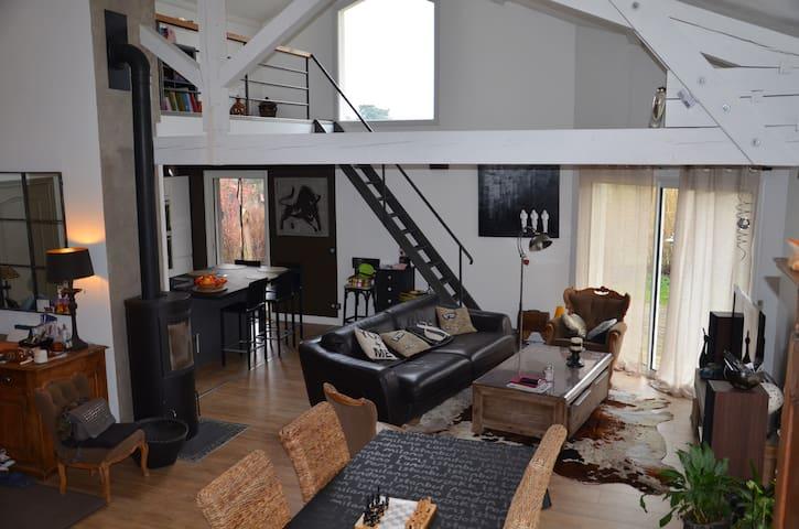 Villa atypique et confortable - Roche-la-Molière - House