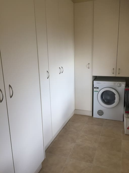 Dryer and cupboard space