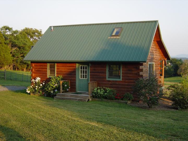 Log cabin on Lazy Acres Farm. Close toVMI W&L, VHC