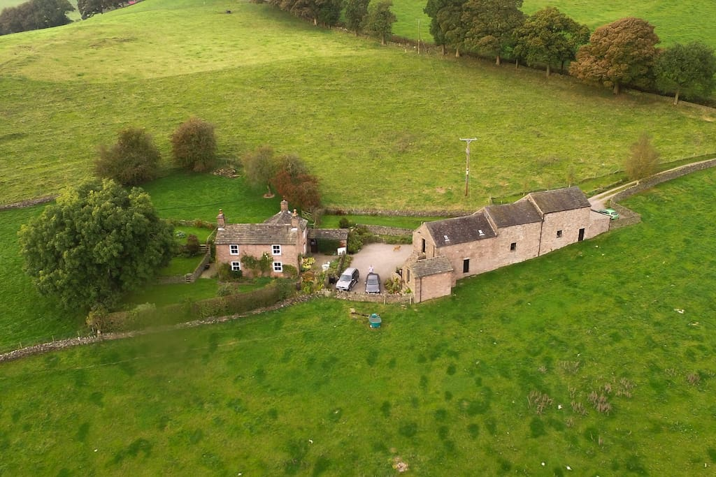 Aerial view of Bartomley Farm