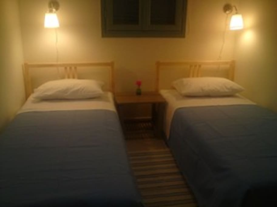 Two single beds