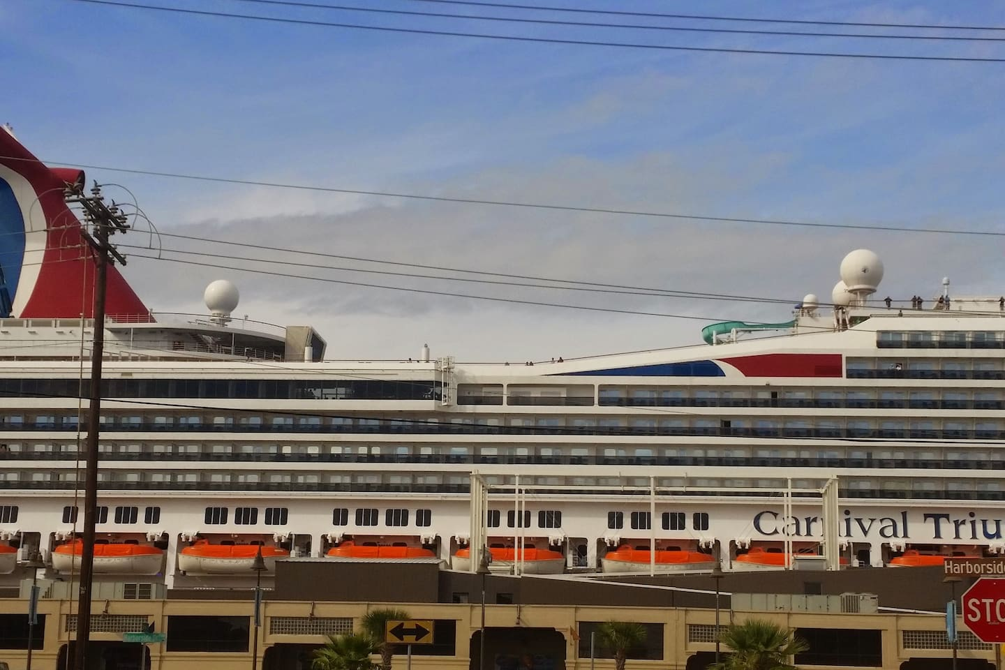 Can we cruise with you for the day or two before the Bon Voyage!