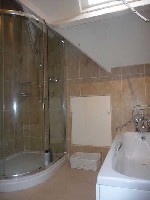 Shower/bath room for your use.