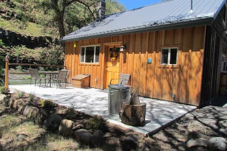new cabin in a canyon by a river - Klickitat