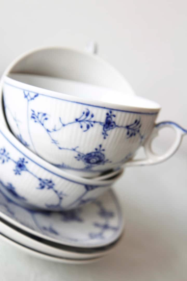 A Danish classic - bluepainted porcelain