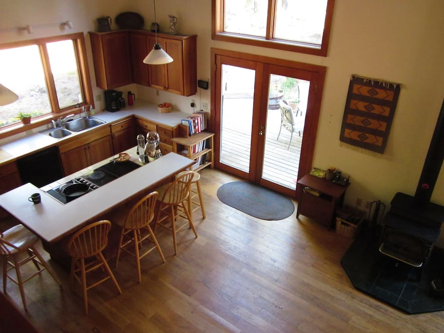Our sunny bright kitchen, with room to gather