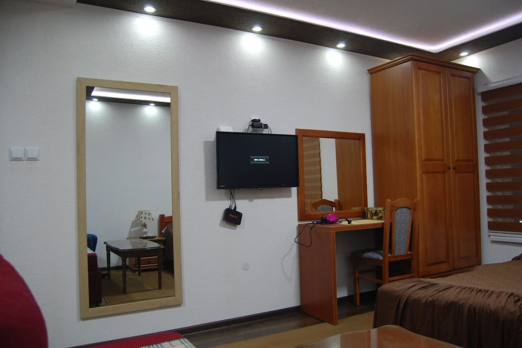 Wardrobe cabinet, desk & TV