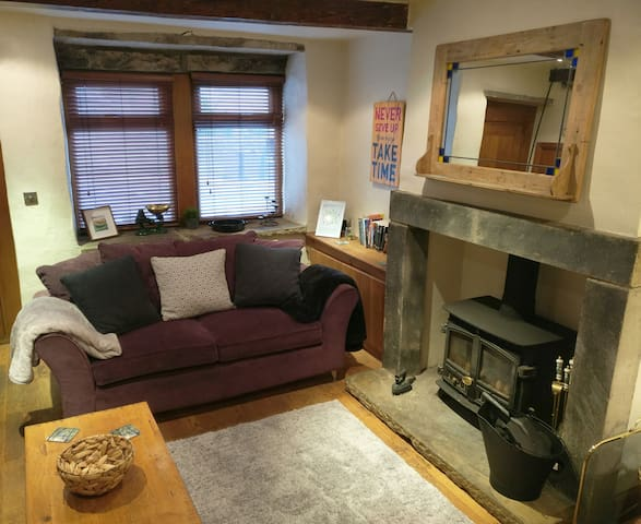 Cosy sitting room at Folly Cottage.