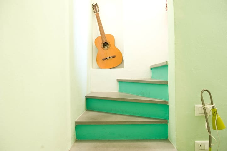 Stairs to bedroom 2