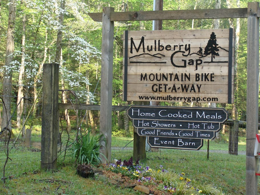 Beautiful Mulberry Gap - 15 acres located in the midst of mountain bike trails.