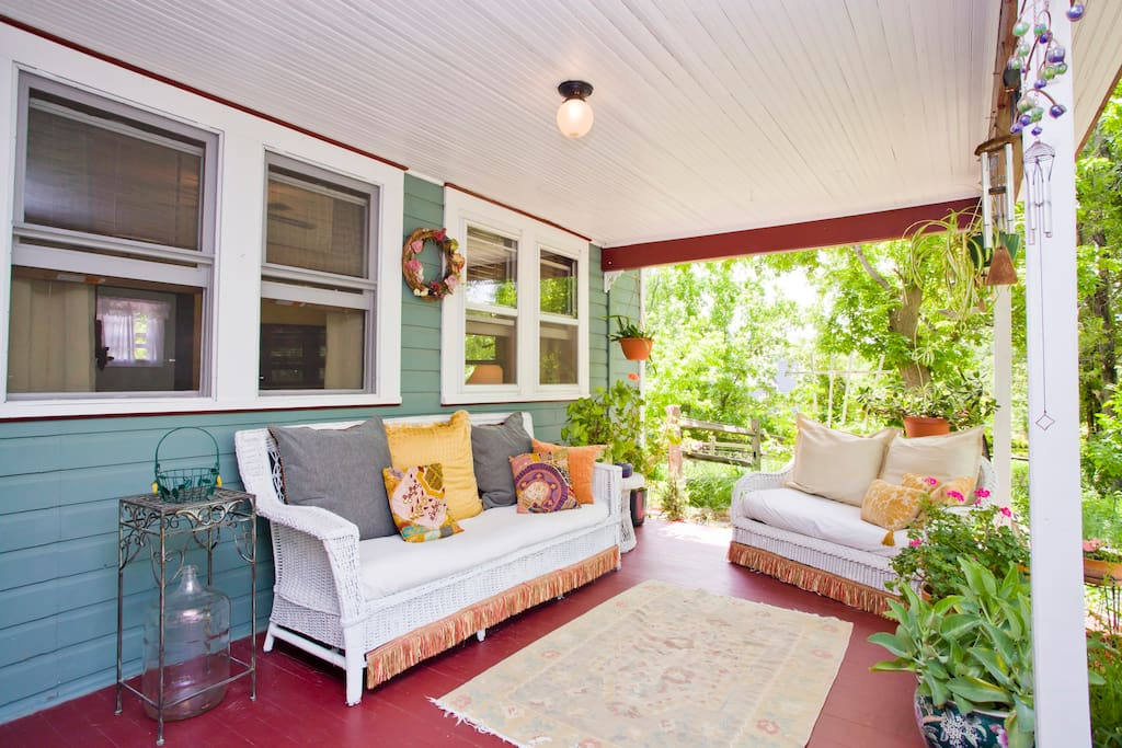 A comfy front porch to relax and unwind.