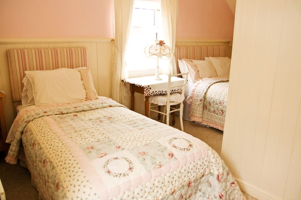1st bedroom (1 double bed + 1 single bed) with own bathroom located at second floor