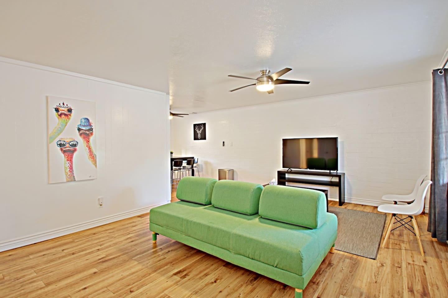 Living Room from one available unit; see our listing link to view each unit in this complex!
